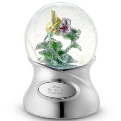 Hand-Painted Hummingbird Snow Globe
