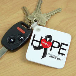 Melanoma Hope Ribbon Awareness Key Chain