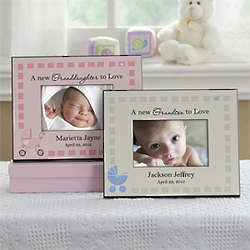 Personalized New Grandbaby Picture Frame for Grandparent