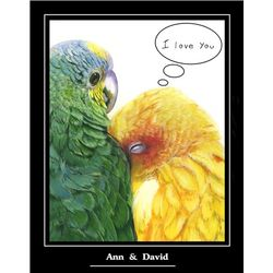 Love Birds Premium Luster Print