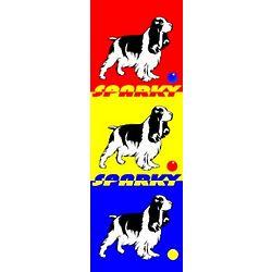 Retro Rover Dog Personalized Print