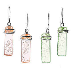 Depression Glass Earrings