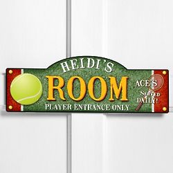 Personalized Tennis Anyone Kid's Room Sign