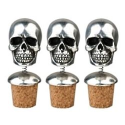Californication Rock Star Skull Bottle Toppers