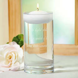 Engraved Floating Wedding Candle