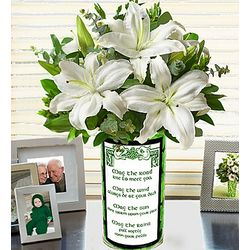 St. Patrick's Day All White Lily Bouquet