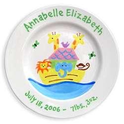Girl's Noah's Ark Baby Plate