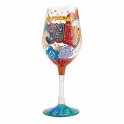 July Birthday Wine Glass