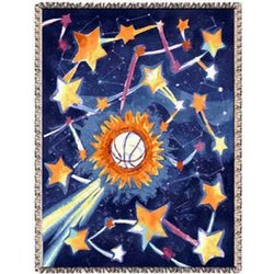 Basketball Star Tapestry Throw