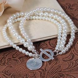 Elegant Moments Glass Pearl Bracelet