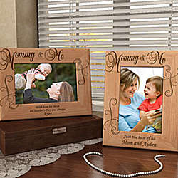 Personalized Royale Mommy & Me Wooden Picture Frame