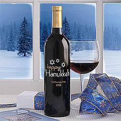 Personalized Hanukkah Star of David Bottle of Wine
