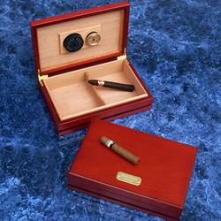 Engravable Maple Wood Cigar Humidor