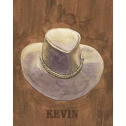 Personalized Kevin's Hat Canvas Art