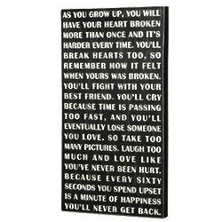 As You Grow Up Box Sign