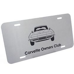 Personalized Brushed Stainless Steel License Plate