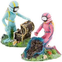 Scuba diver aquarium ornament for Aquarium scuba diver decoration