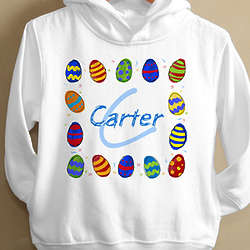 Personalized Toddler Easter Eggs Sweatshirt