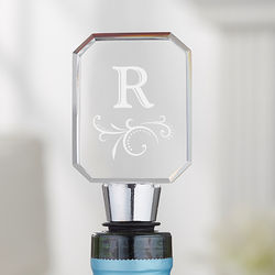 Engraved Monogram Personalized Wine Bottle Stopper
