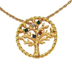 Family Birthstone Tree Pin/Pendant