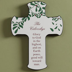 Personalized Blessings of Christmas Wall Cross