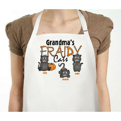 Fraidy Cats Personalized Halloween Apron