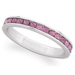 Sterling Silver October Birthstone Eternity Ring