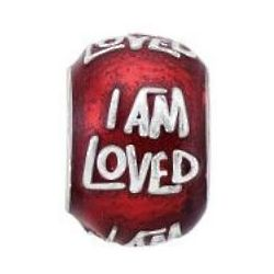 I Am Loved Sterling Silver Charm Bead