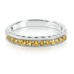 Sterling Silver Citrine Stack Ring