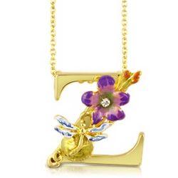 Letter Z Fleuri Charm Necklace