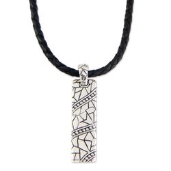 Men's Java Paths Sterling Silver Pendant Necklace