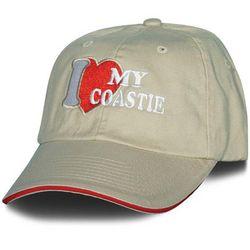 I Love My Coastie Embroidered Women's Ballcap