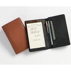 Leather Note Jotter Organizer and Planner