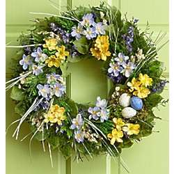 Preserved Easter Spring Wreath