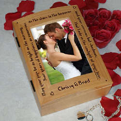 Old Wedding Blessing Photo Keepsake Box