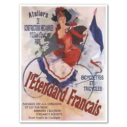 Personalized French Bicycle Advertising Print
