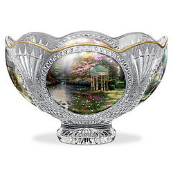 Thomas Kinkade Facets of Brilliance Crystal Bowl