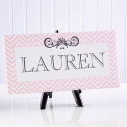 Girl's Chevron Class Personalized Canvas Print
