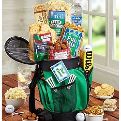Cool Golf Bag Snack Gift Basket