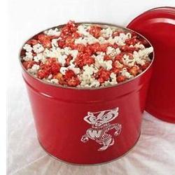 Bucky Badger 2 Gallon Gourmet Popcorn Gift Tin