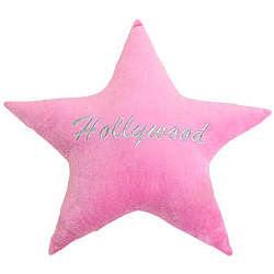 Hollywood Star Plush Pillow
