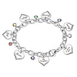 Heartfelt Wishes Charm Bracelet for a Daughter
