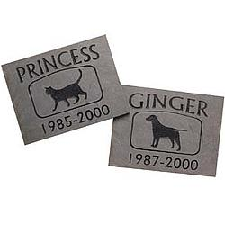 Personalized Slate Pet Memorial Stone