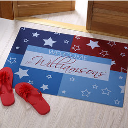 Personalized All American Welcome Doormat