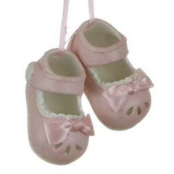 Personalized Newborn Baby Girl Shoes Christmas Ornament