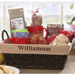 Custom Name Personalized Lined Wicker Baskets