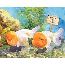 Personalized Goldfish Canvas Art