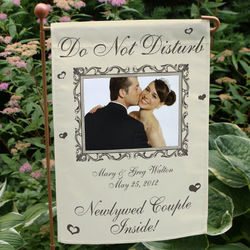 Newlywed Couple Personalized Garden Flag