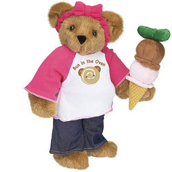 """15"""" Bun in the Oven Pregnancy Teddy Bear"""