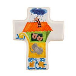 Small Ceramic Noah's Ark Cross